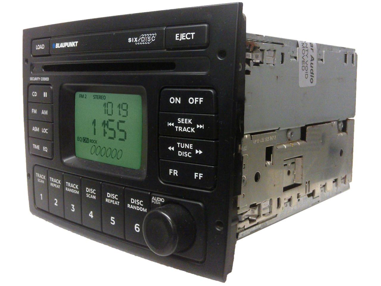 Pontiac BLAUPUNKT Radio 6 Disc CD Changer Stereo OEM