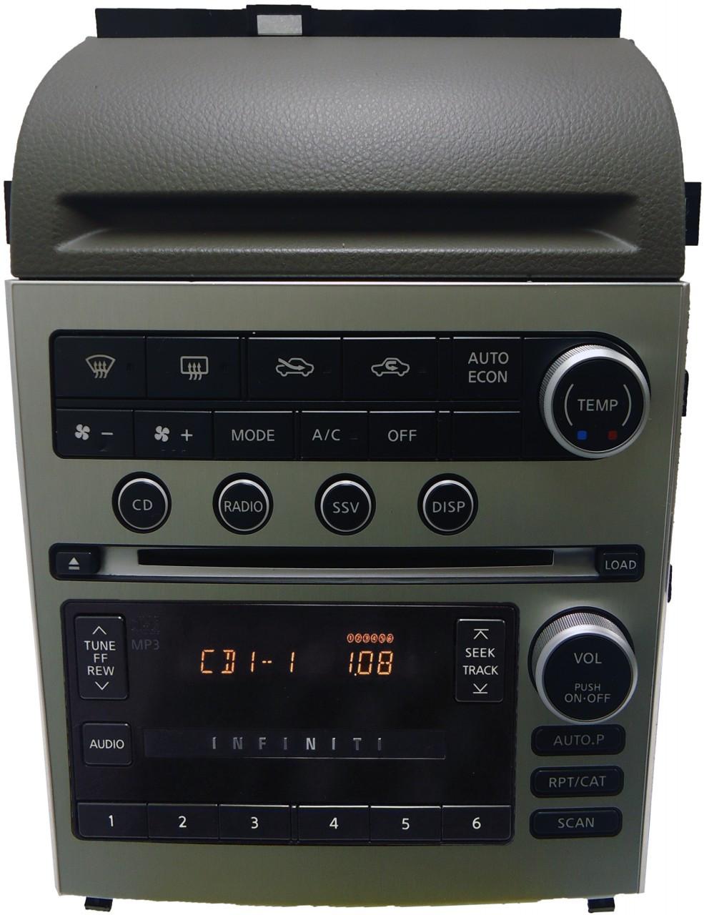 05 Infiniti G35 Radio Tape MP3 Player CD 6 Changer