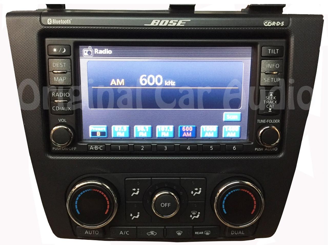 Nissan Navigation Touch Screen Bluetooth BOSE 6 CD Changer