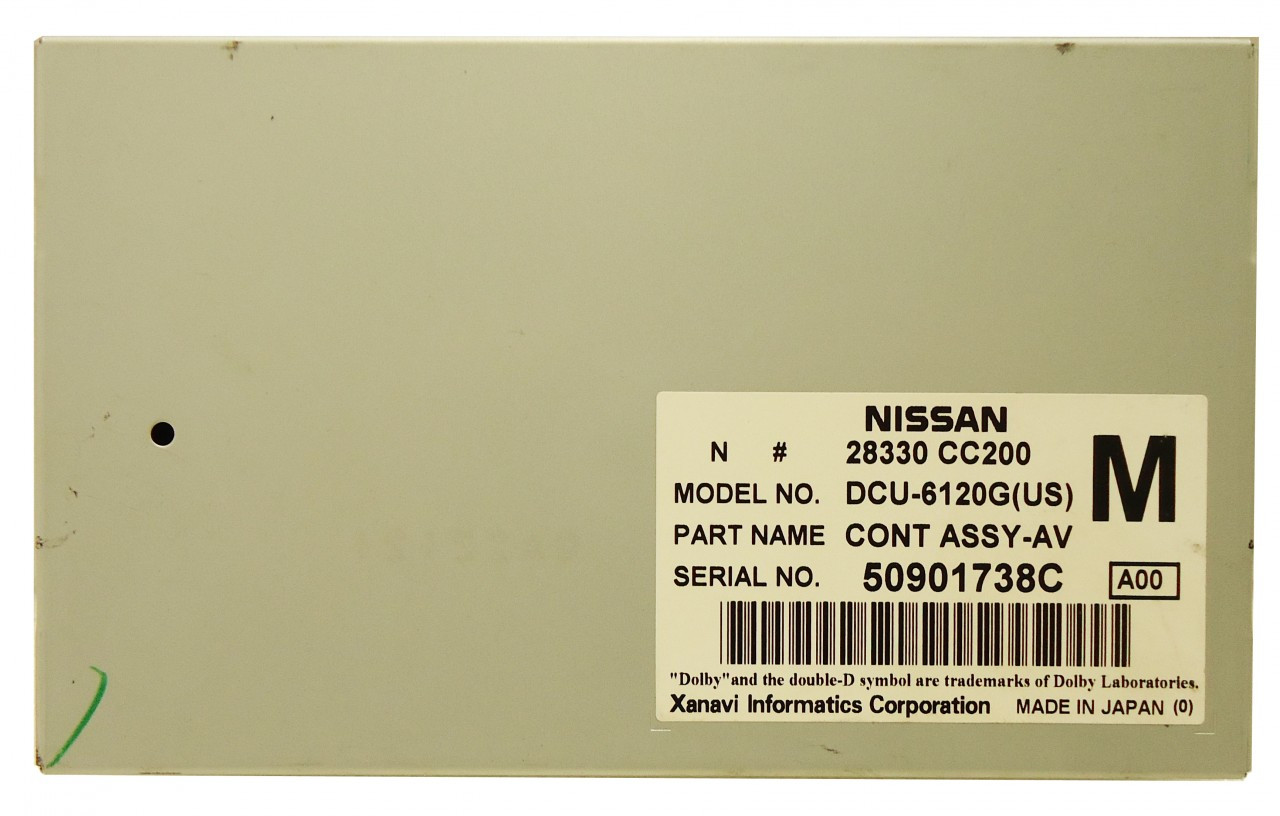 2005 2006 2007 NISSAN MURANO AUDIO VISUAL CONTROLLER MODULE 28330-CC210 OEM