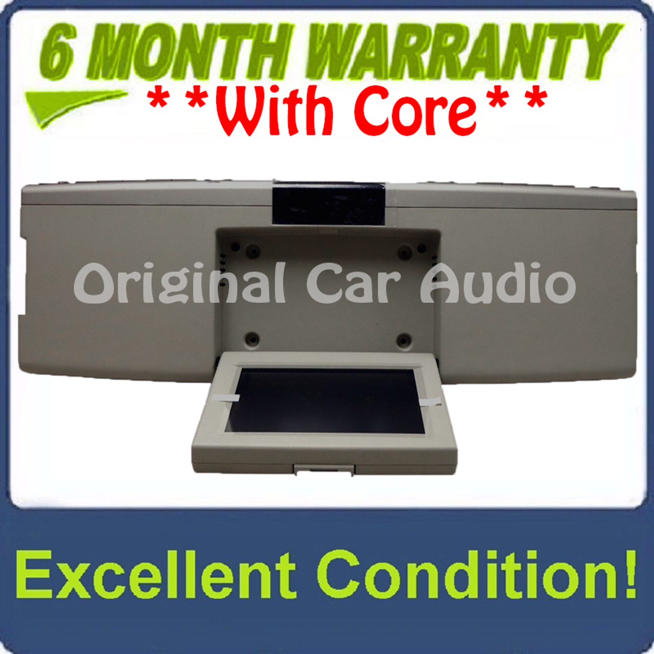 Fo305u 2007 2010 Lincoln Mark Lt Mkx Navigator Oem Overhead Rse Rear Seat Dvd Player Display Assembly Silver Cream
