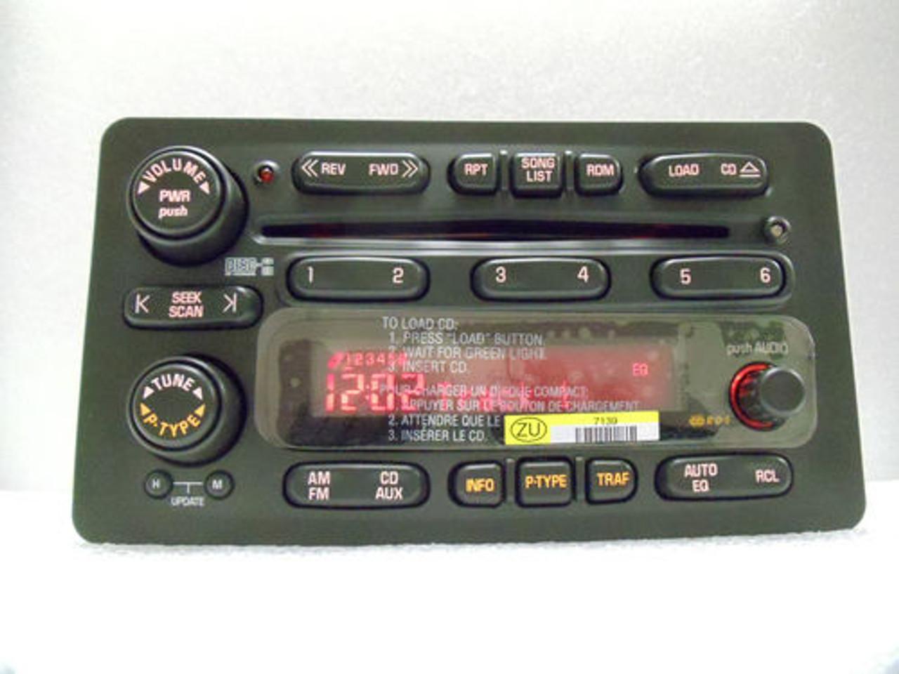 Stereo 6 Cd Player 03 04 06 07 08 Envoy Silverado Suburban