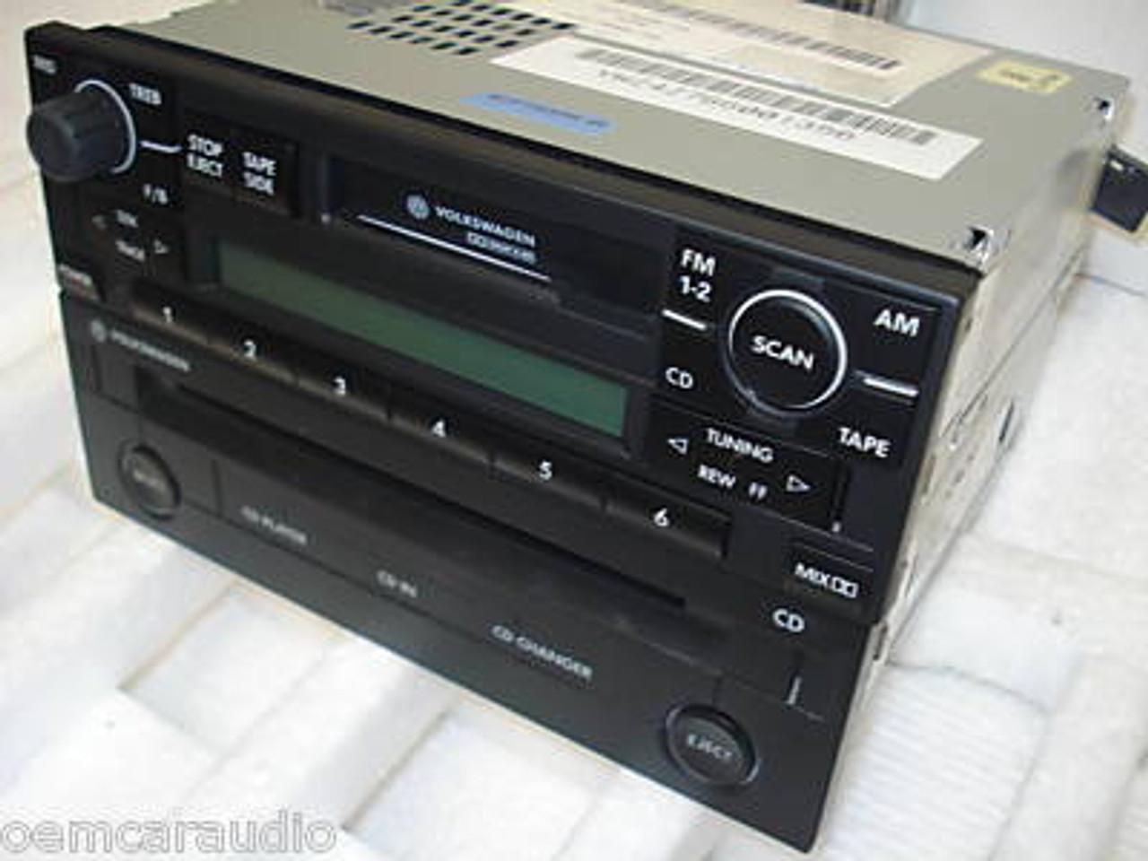 VW VOLKSWAGEN Passat Jetta Golf GTI Eurovan Cabrio AM FM Radio Stereo Car  Audio CD Player 1998 1999 2000 2001 2002 1J0 035 119 BX, 1J0 035 180 AX