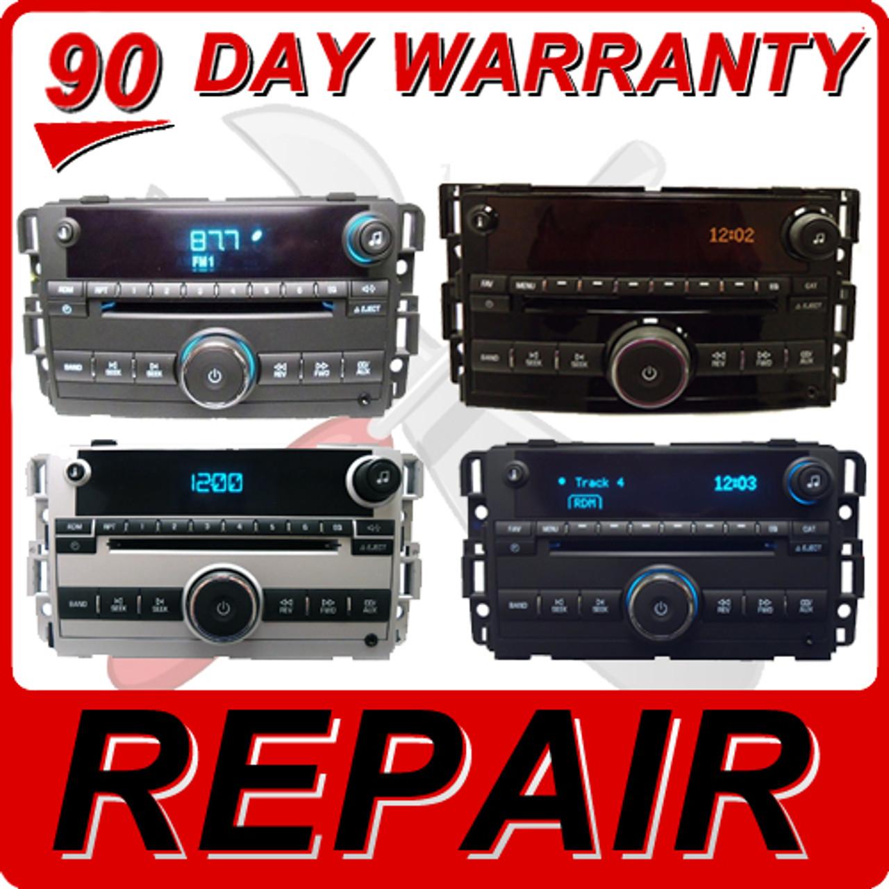 REPAIR 07 - 12 GMC Sierra Chevy Tahoe Single CD Player FIX