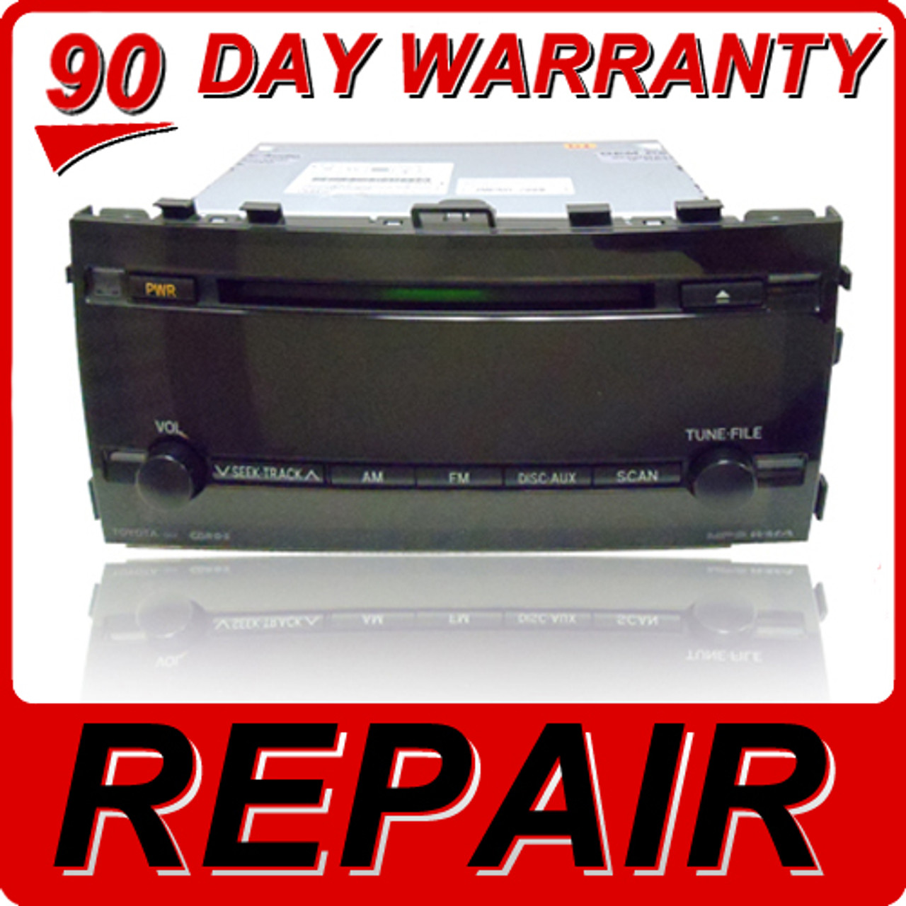 REPAIR SERVICE to Fix TOYOTA Prius Radio Single CD Player