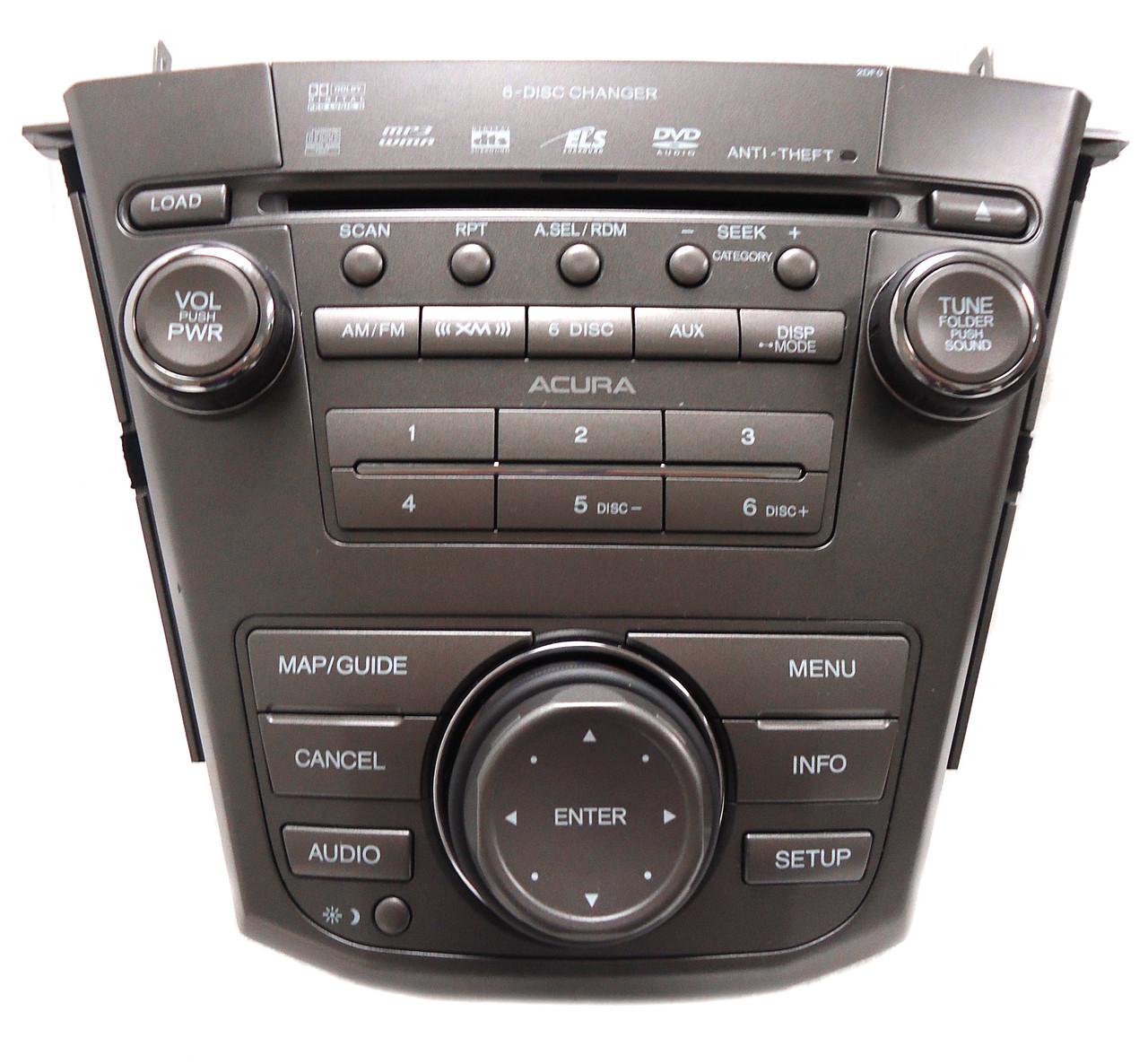 ACURA MDX Navigation 2DF0 Radio 6 Disc Changer CD DVD