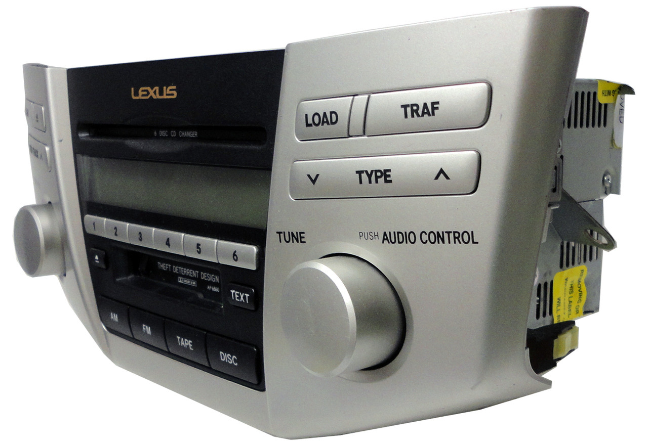 2005 2006 Lexus RX330 RX400h Radio and 6 CD Player