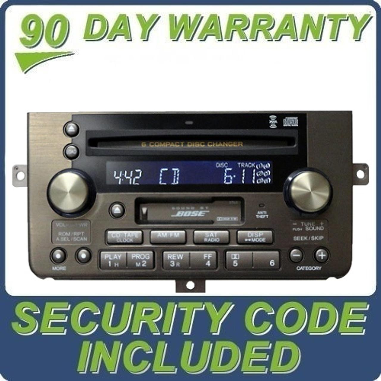 04 2004 Acura RL BOSE Navigation Radio Tape Player 6 CD