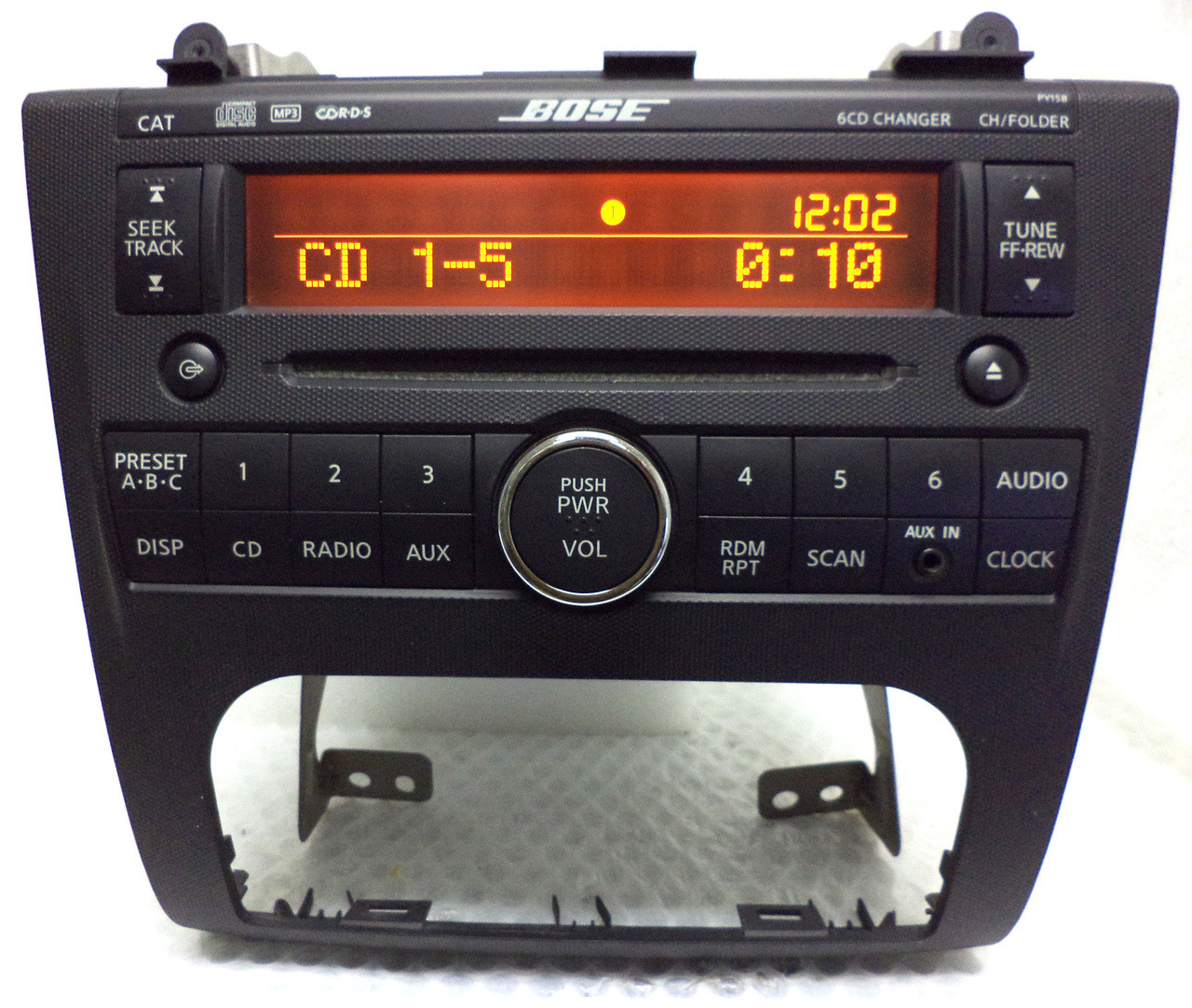 Bose Car Stereo >> Nissan Altima Bose Radio Stereo 6 Disc Changer Cd Player Py15b