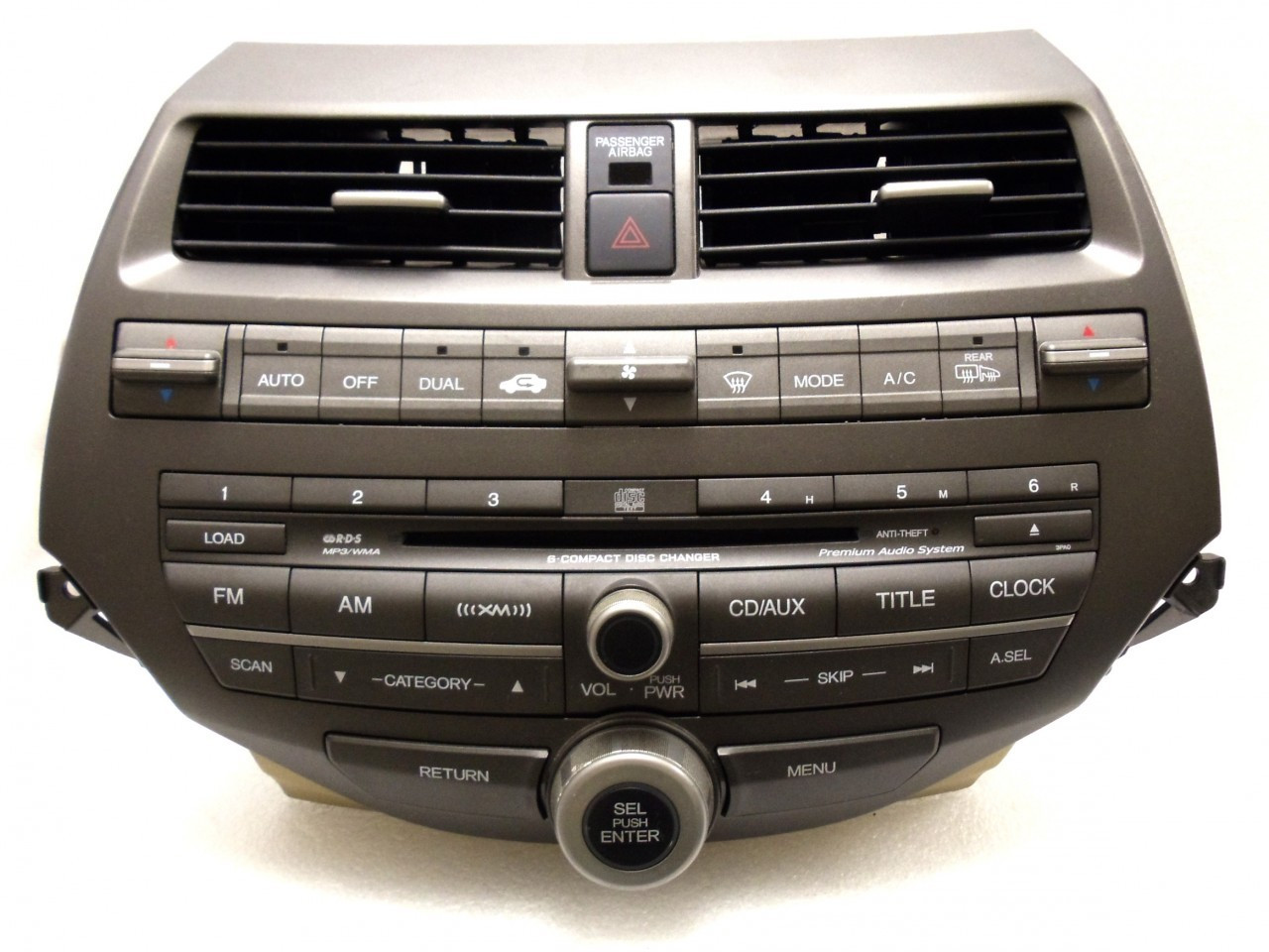 Honda Accord Premium Audio Radio and 6 CD Changer 3PA7 w/Trim & AC