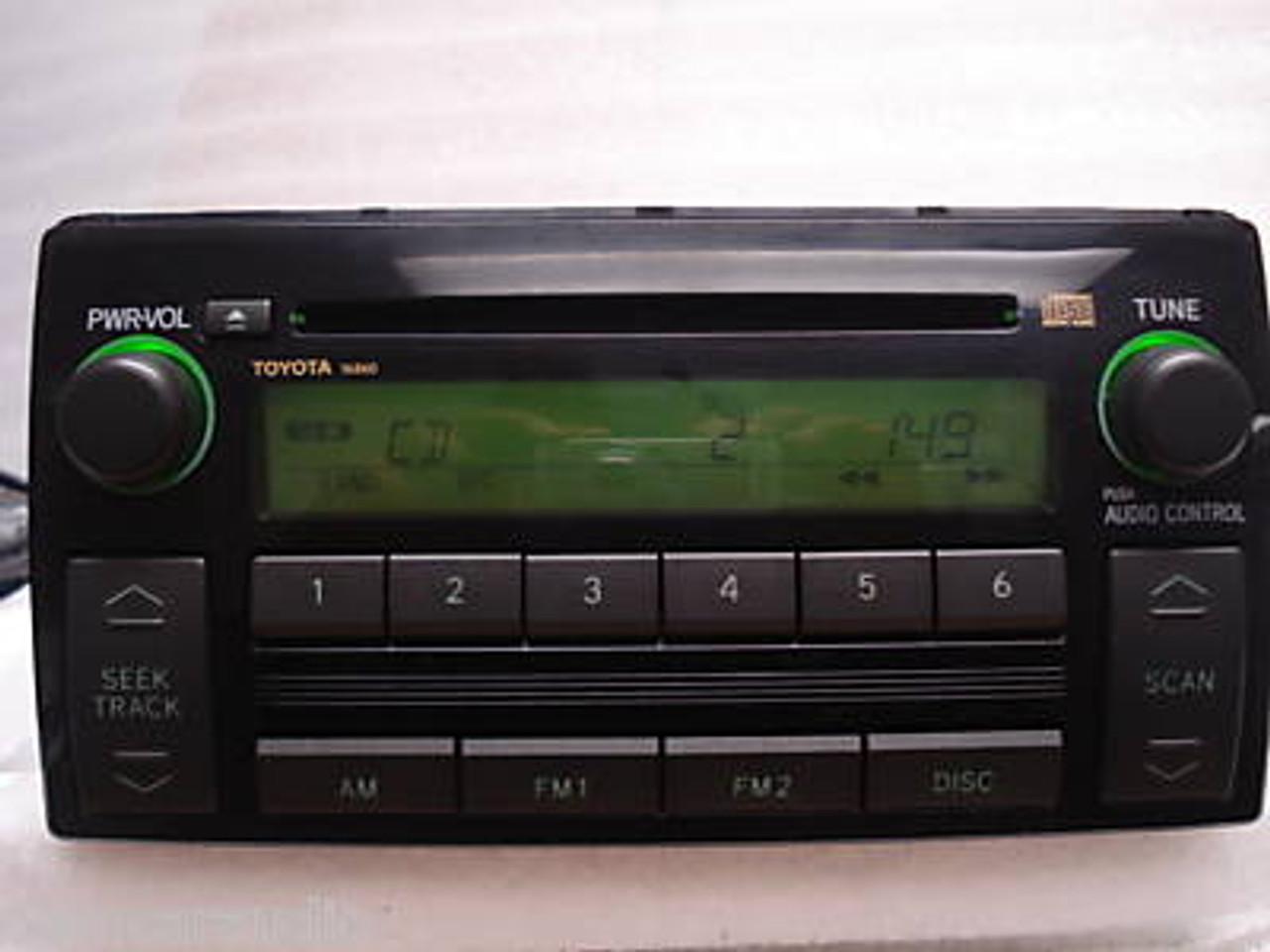 Toyota Camry Radio and CD Player 86120-AA160 2005-2006 on