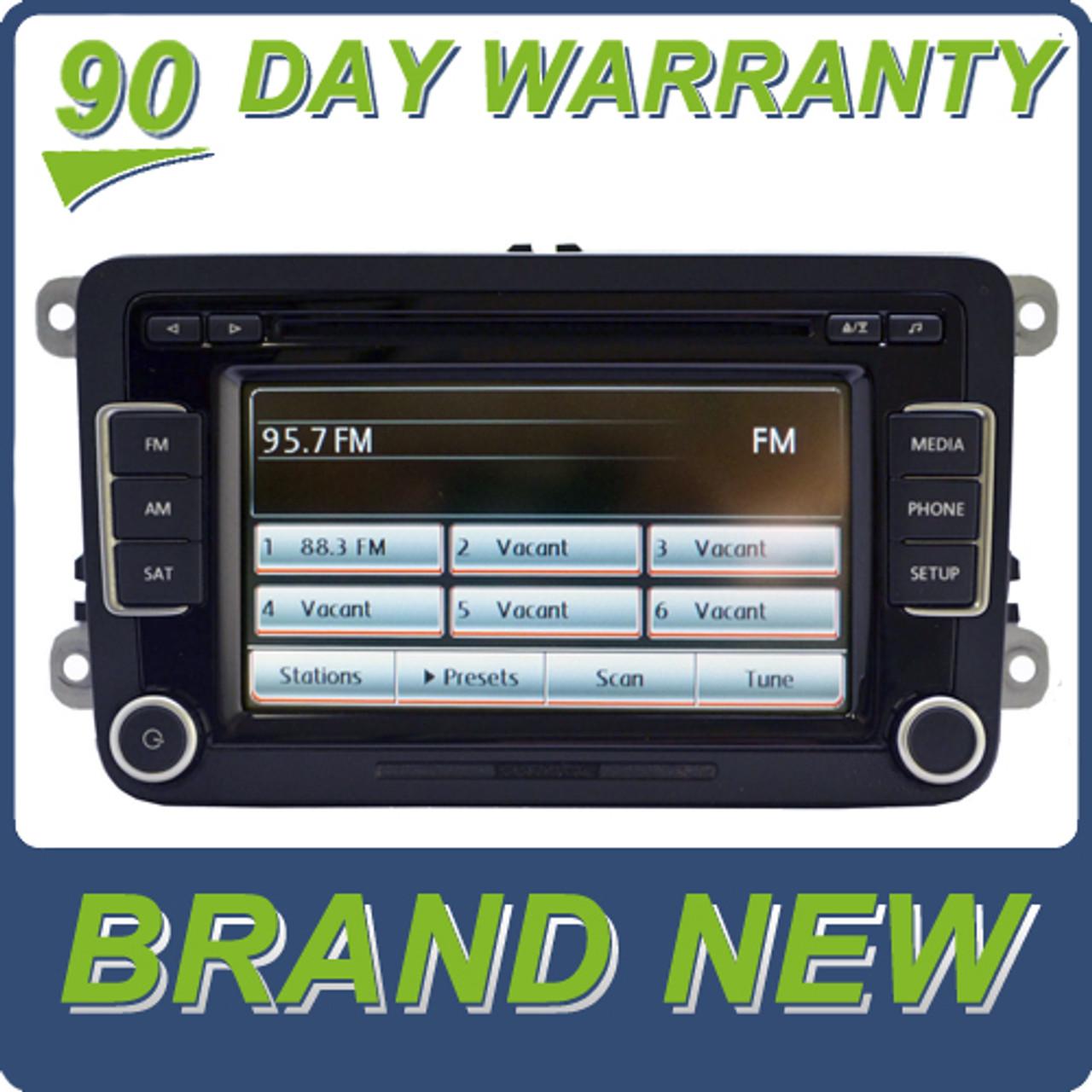 Merged 2010 2011 2012 NEW VW Volkswagen Jetta Passat Golf GTI Rabbit EOS  Radio Stereo 6 Disc Changer CD Player Touch Screen SD Mp3 Sirius Satellite