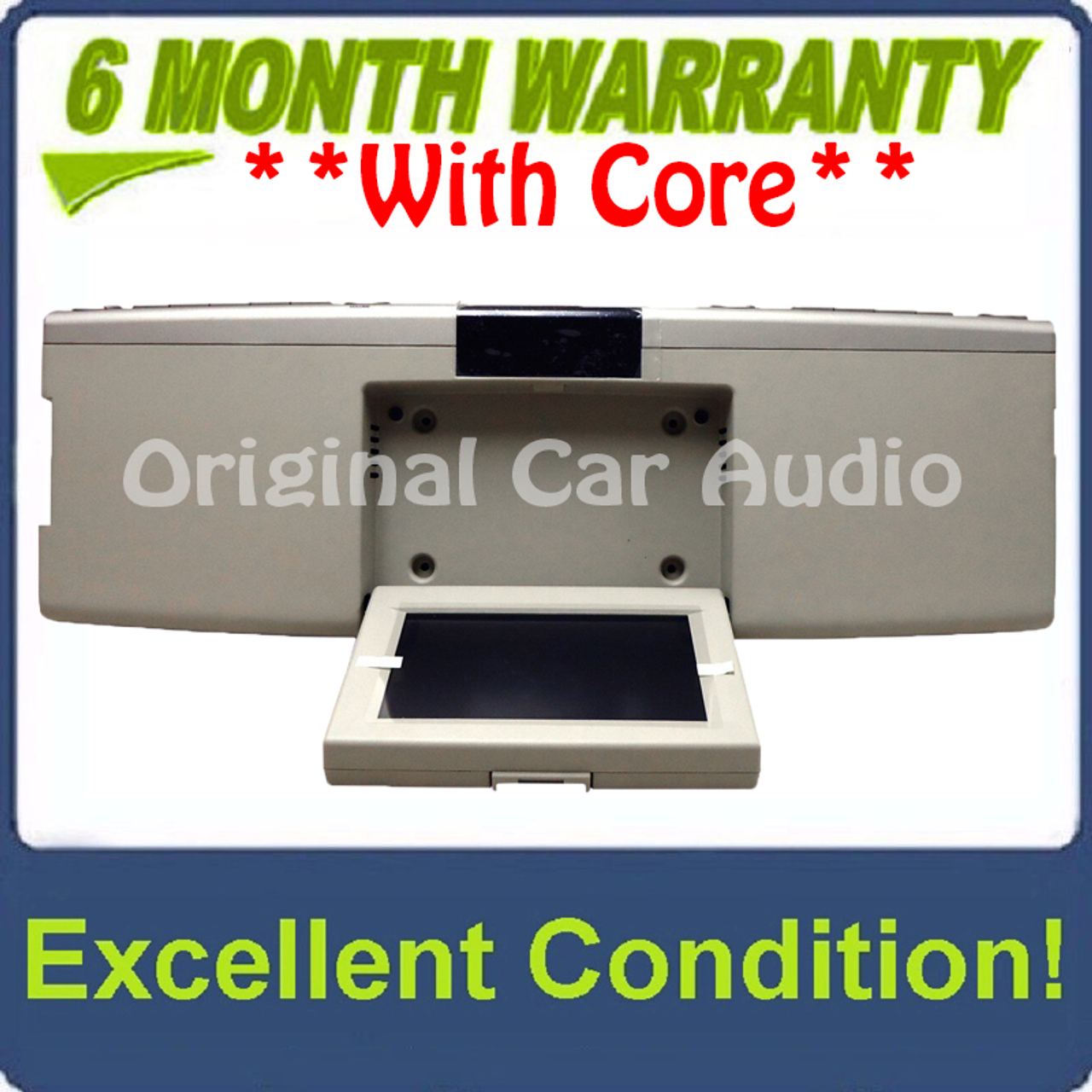 Fo283u 2007 2010 Lincoln Mark Lt Mkx Navigator Oem Overhead Rse Rear Seat Dvd Player Display Assembly Silver Beige