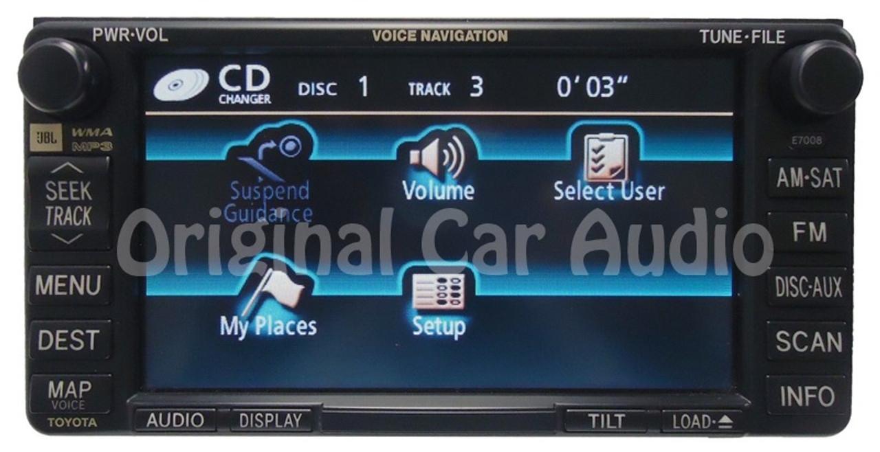 E7008 Toyota Navigation GPS Radio MP3 AUX Sat JBL OEM
