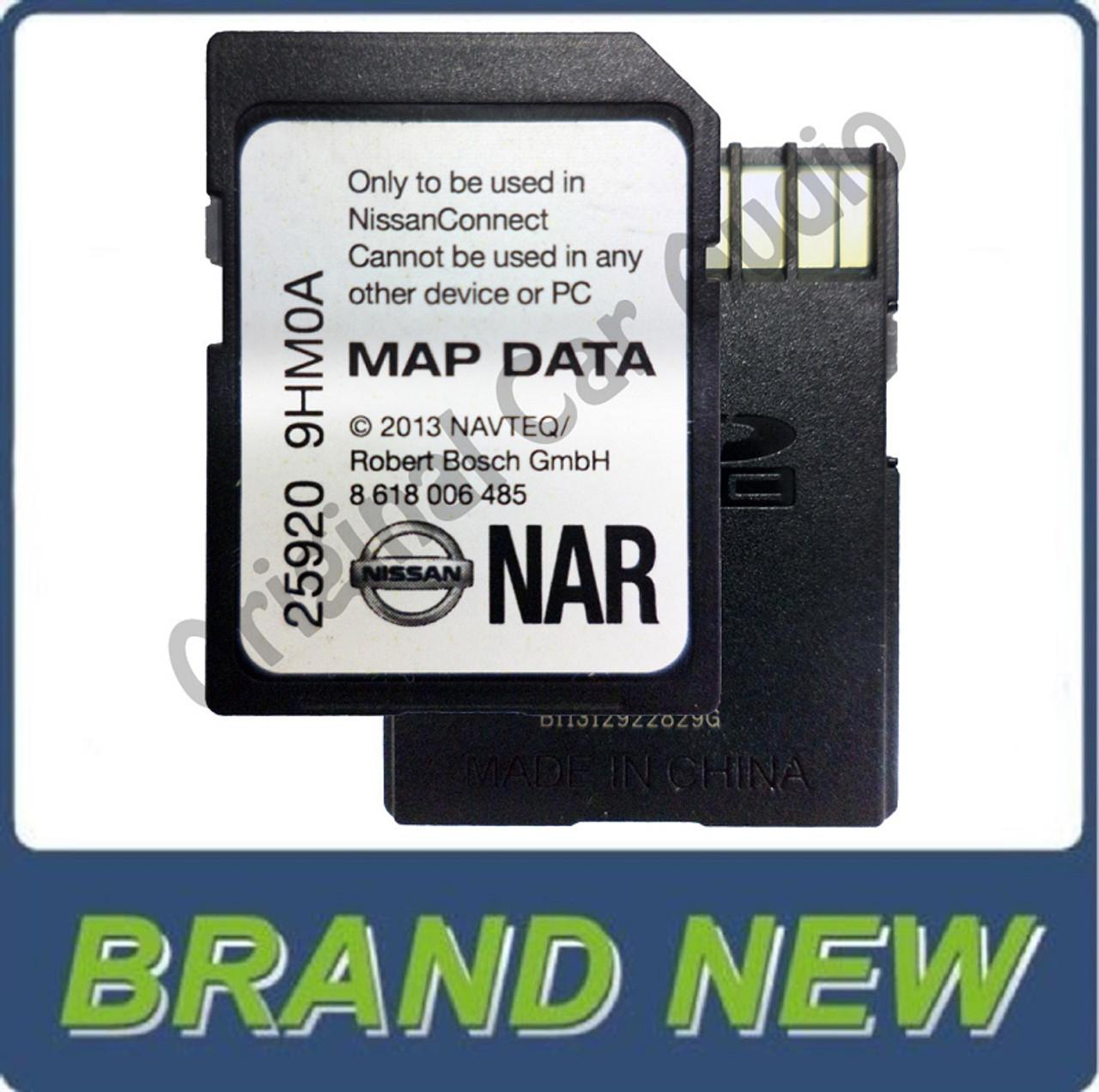 NISSAN OEM Navigation NAVTEQ MAPS SD Memory Card