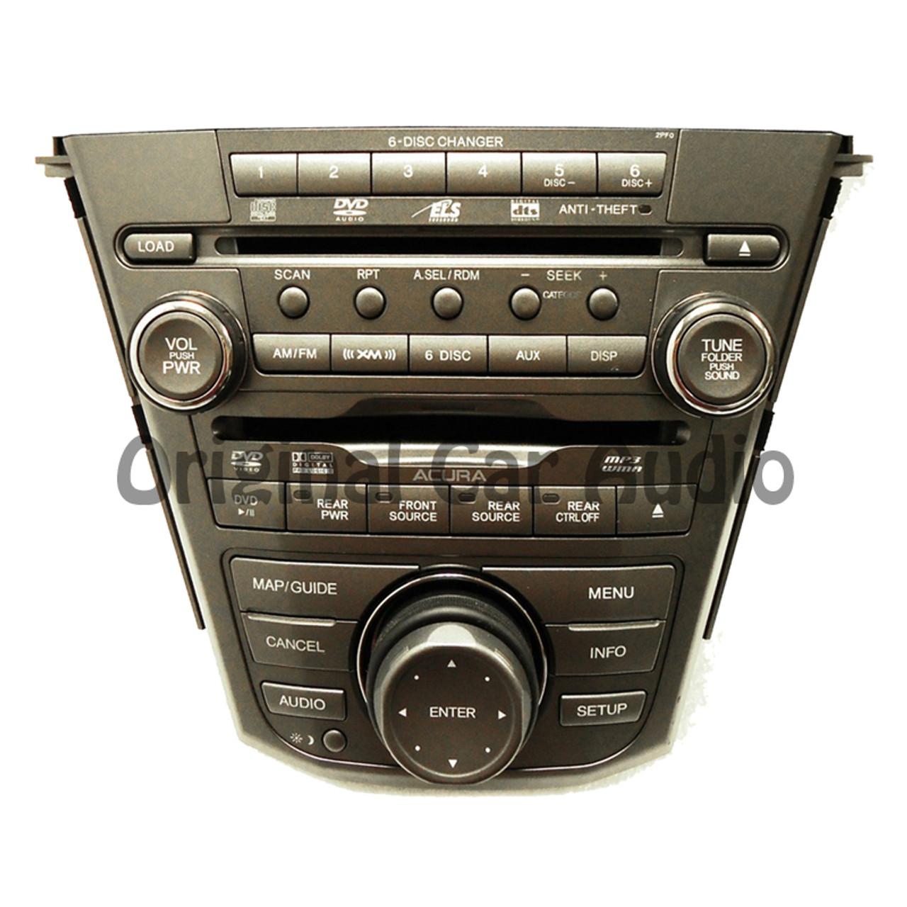 07 08 09 Acura Mdx Xm Satellite Radio 6 Disc Cd Dvd Player Changer Rhcd4car: 2007 Acura Xm Radio At Gmaili.net
