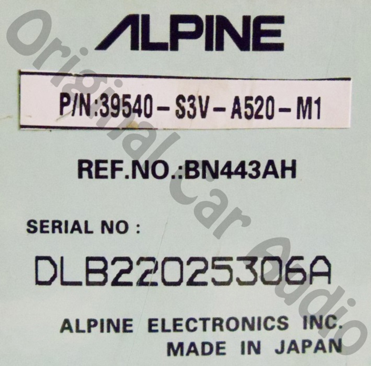 Remanufactured By ALPINE Acura MDX Navigation DVD Player