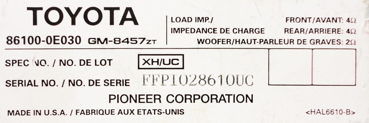 06 07 08 09 LEXUS RX330 RX350 RX400H OEM AMPLIFIER Amp 86100-0E030