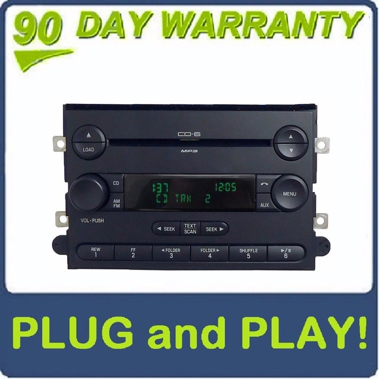 FORD LINCOLN F250 F350 MERCURY AM FM Radio 6 Disc Changer MP3 CD Player OEM