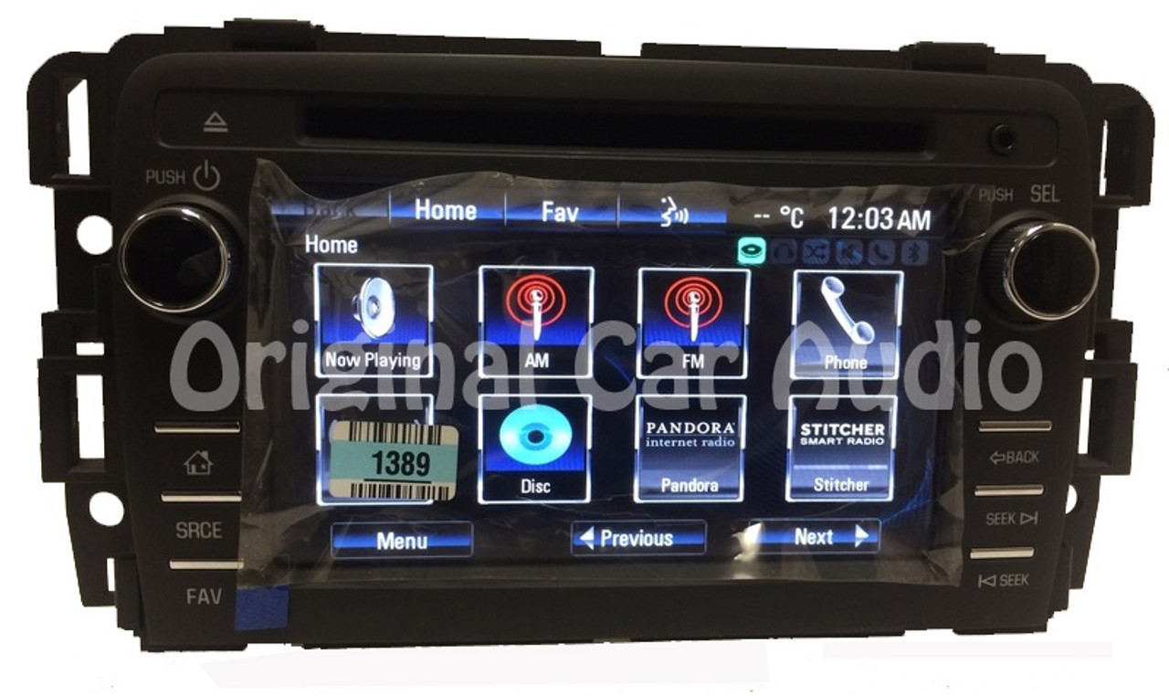 Unlocked 2013 2014 Chevrolet Traverse Buick Enclave OEM Touch Screen Radio  CD Player