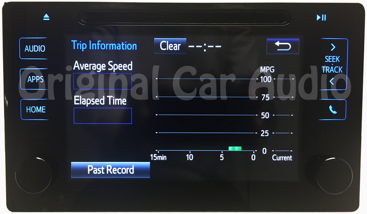 Toyota touch screen radio receiver CD player HD display OEM