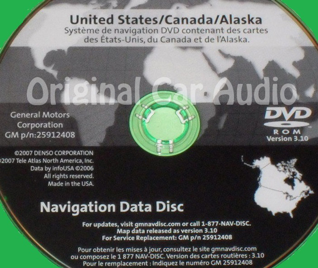 GM Satellite Navigation System CD 25912408 Version 3 10