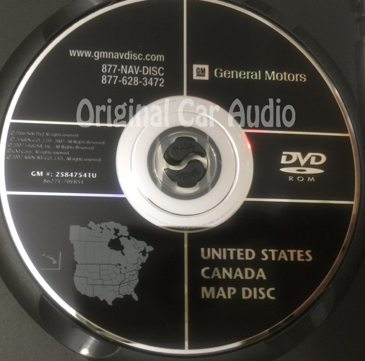GM Satellite Navigation System CD 25847541 or 25847541U - CD4Car