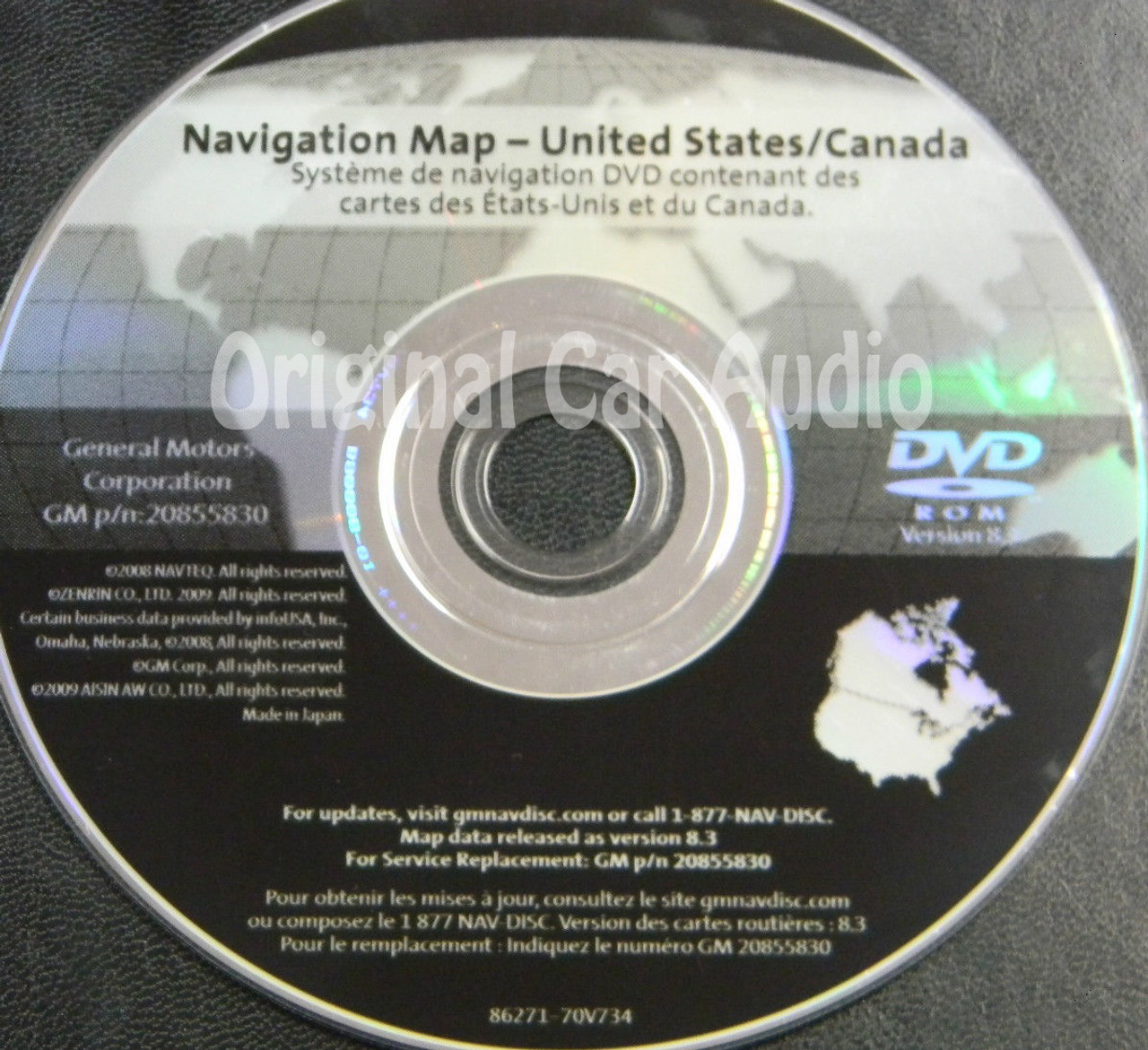 GM Satellite Navigation System CD 20855830 Version 8.3 - CD4Car