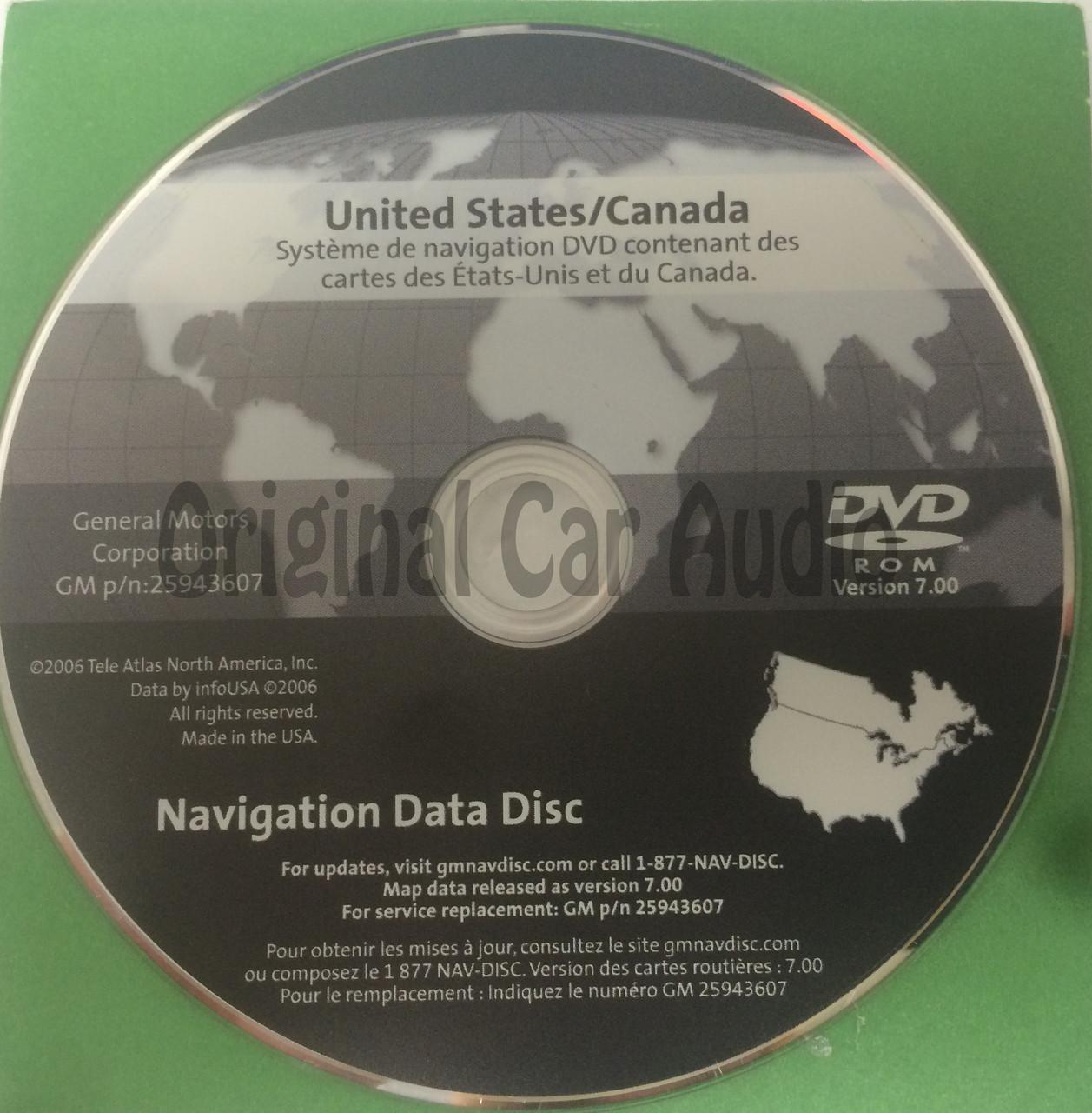 GM Satellite Navigation System GPS DVD Drive Disc 25943607 Version 7 0