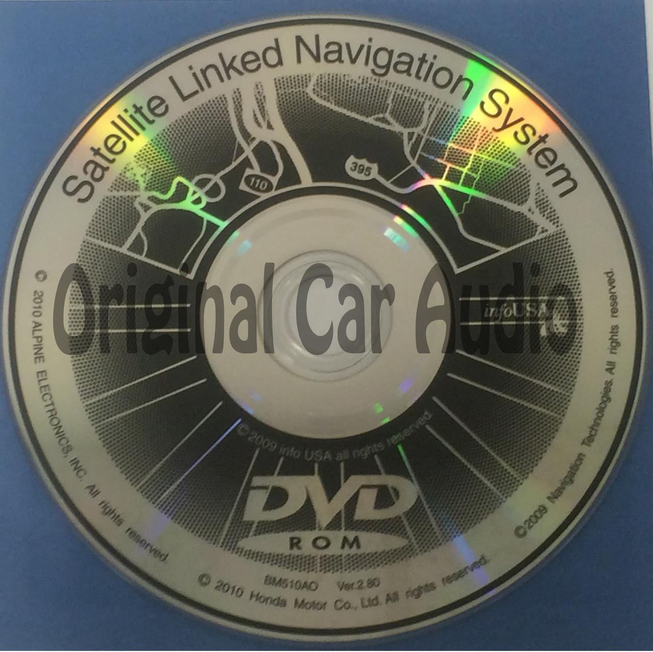 Acura Honda Satellite Navigation System GPS DVD Drive Disc