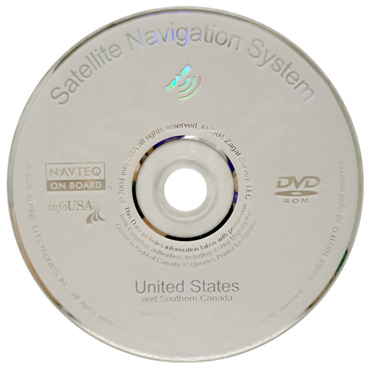 06 07 08 09 10 11 12 Acura RL TL MDX TSX Navigation Disc CD DVD NAVTEQ SAT  Nav GPS 4 C0