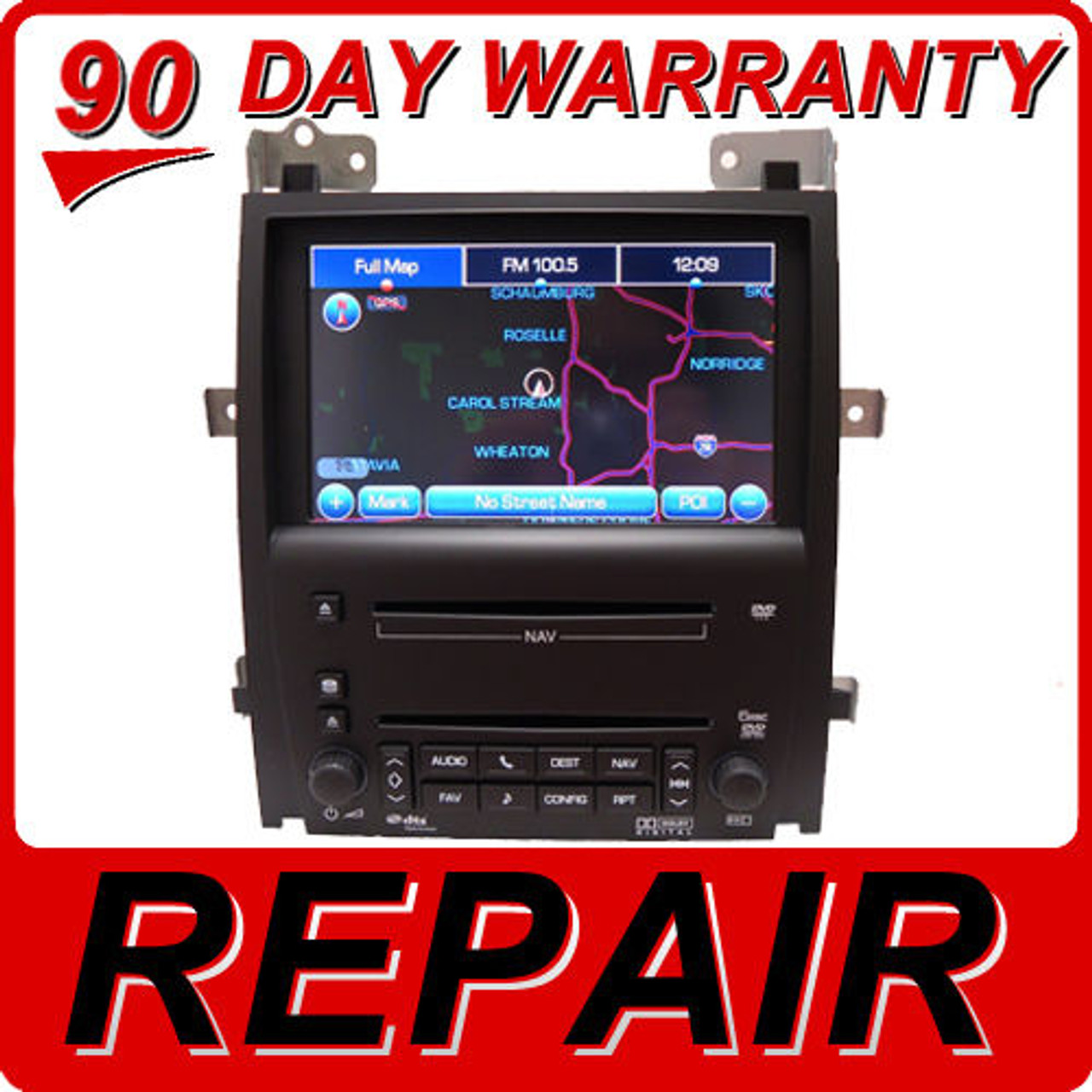 REPAIR SERVICE CADILLAC STS GPS NAVIGATION CD RADIO SUPERNAV GPS 6 DISC DVD  FIX