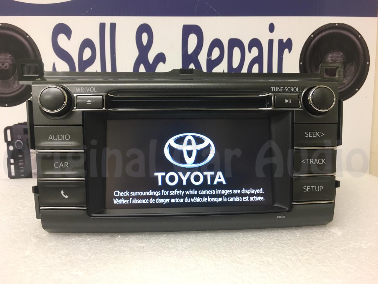 2014 2015 Toyota Rav4 AM FM Radio OEM Touchscreen Bluetooth Unit 1000327