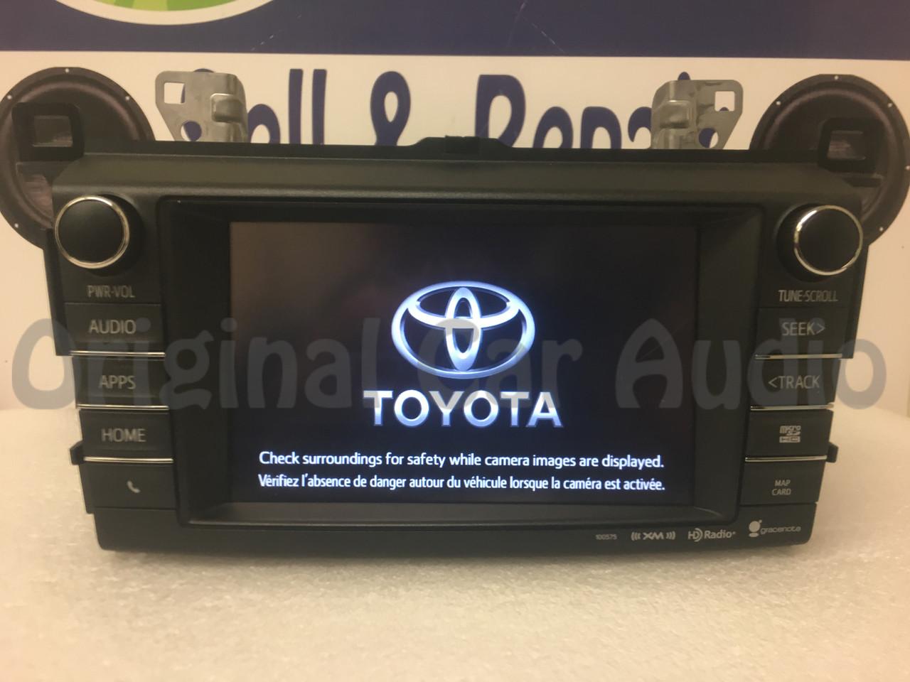 2013 - 2017 Toyota Rav4 OEM Entune Navigation Gracenote SAT HD Radio  Receiver 100575
