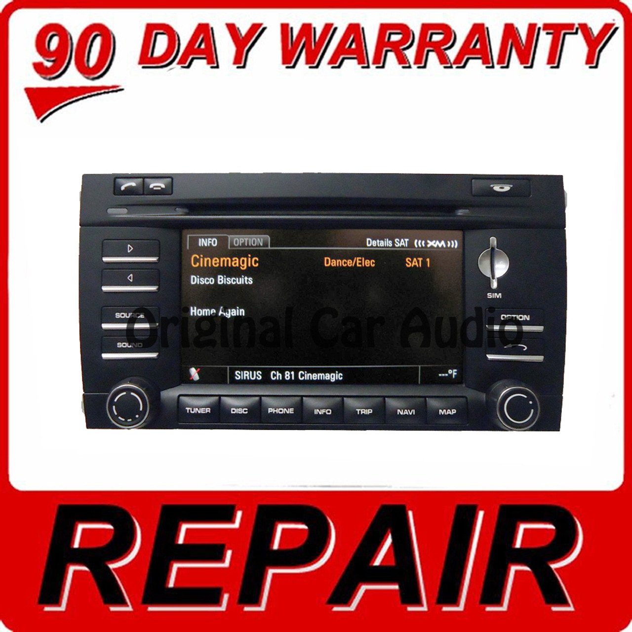 REPAIR 2009 - 2010 Porsche Cayenne OEM Navigation GPS Radio PCM 3 0