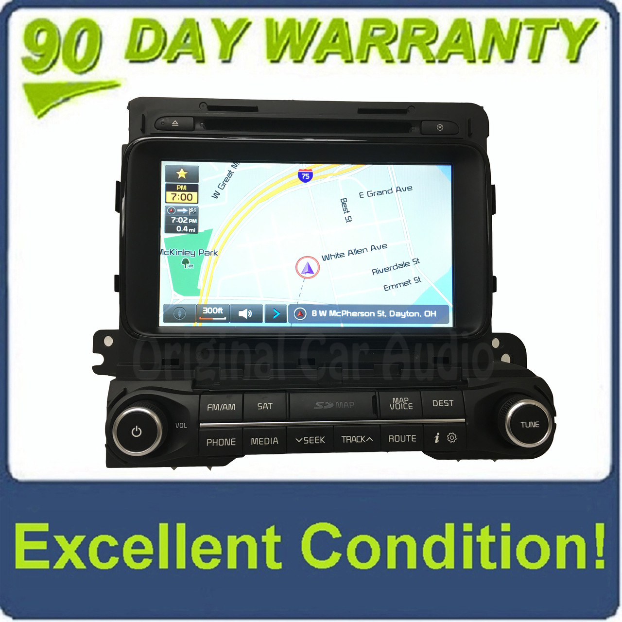 2014 - 2015 Kia Optima OEM Touch Screen GPS Navigation AM FM SAT Radio  Receiver