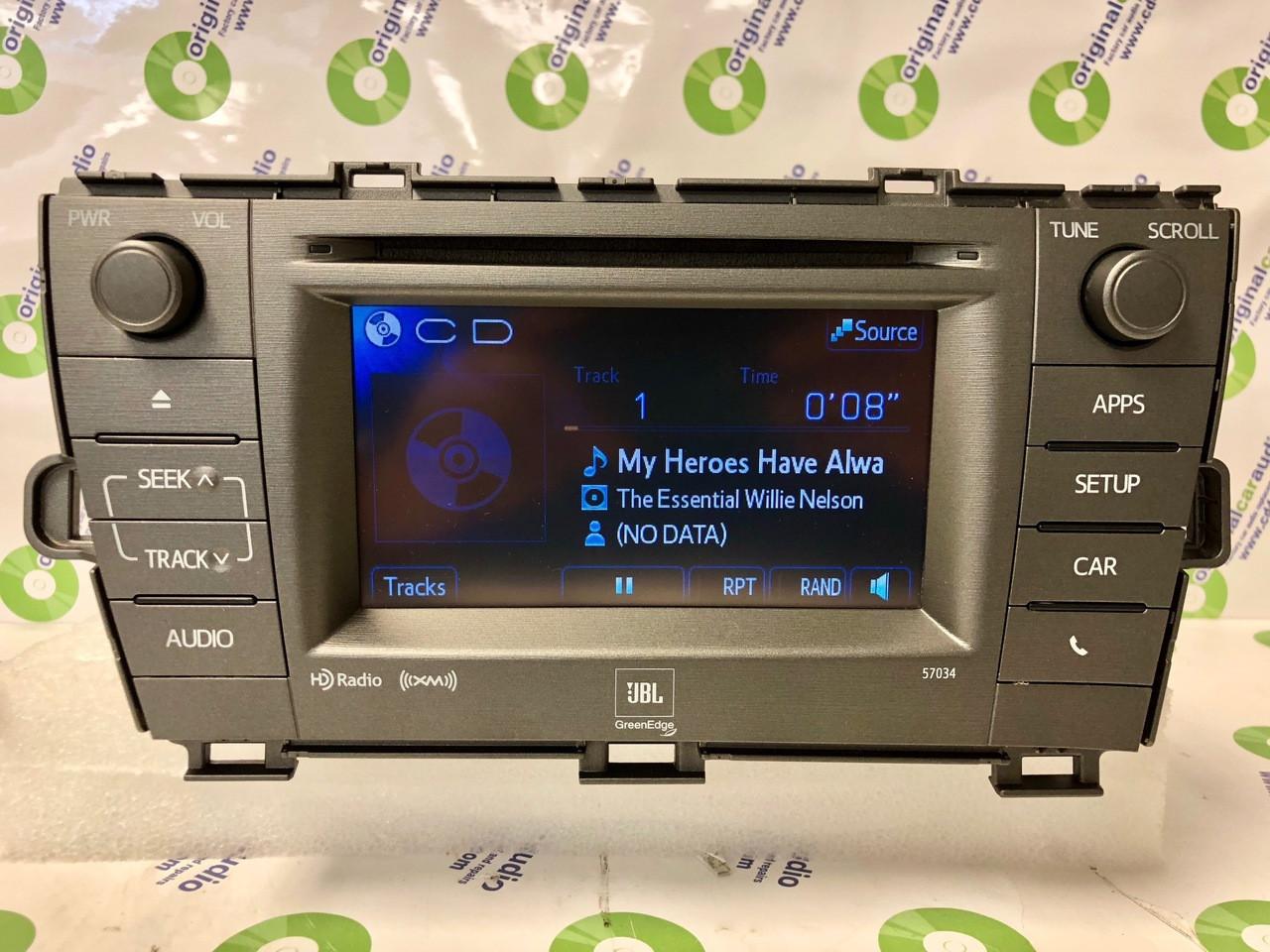 2011 - 2015 Toyota Prius JBL OEM Radio CD Player Green Edge HD radio 57034