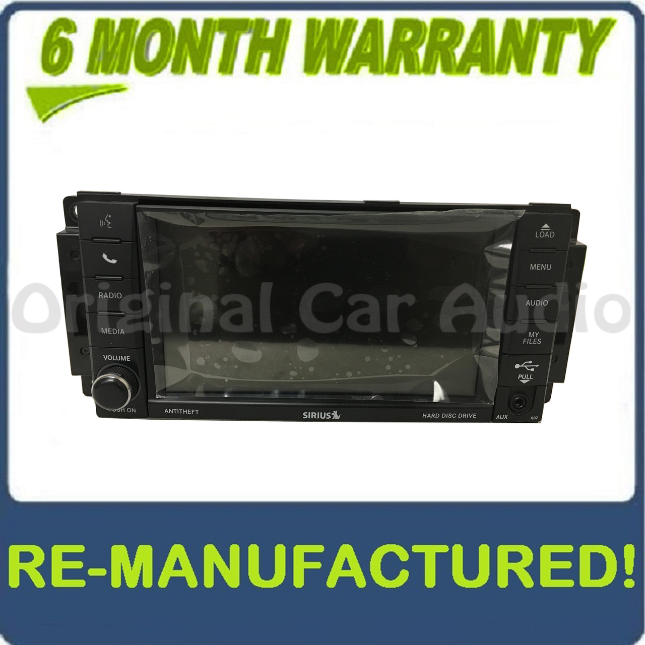 REMANUFACTURED 2007 2008 2009 2010 2011 2012 2013 DODGE JEEP CHRYSLER OEM  High-Speed MyGig UConnect Radio CD DVD MP3 Player RBZ