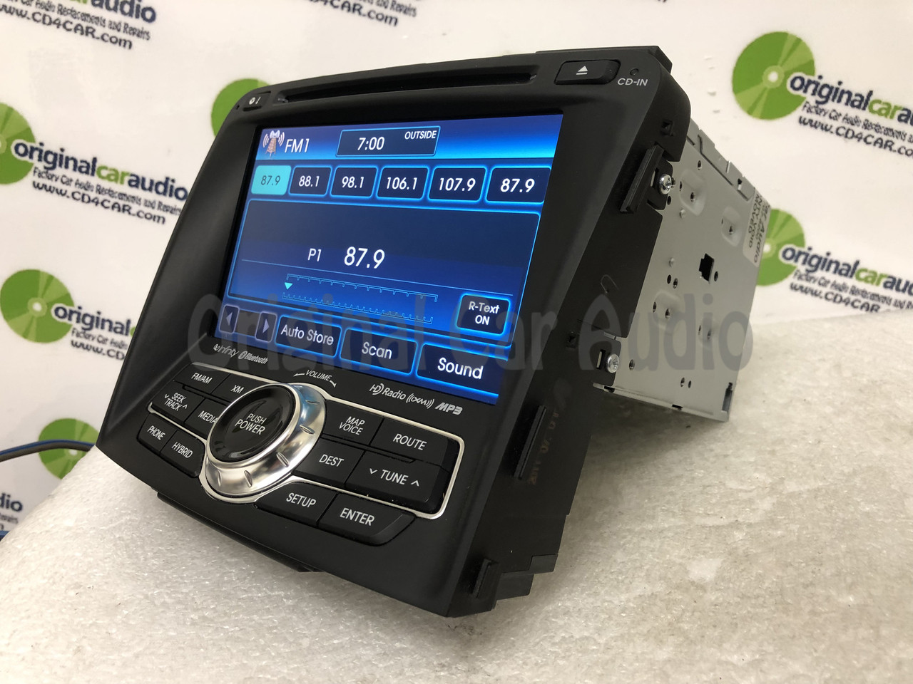 2011 - 2015 Hyundai Sonata Hybrid OEM Infinity Touch Screen Navigation  Bluetooth Radio Media Receiver