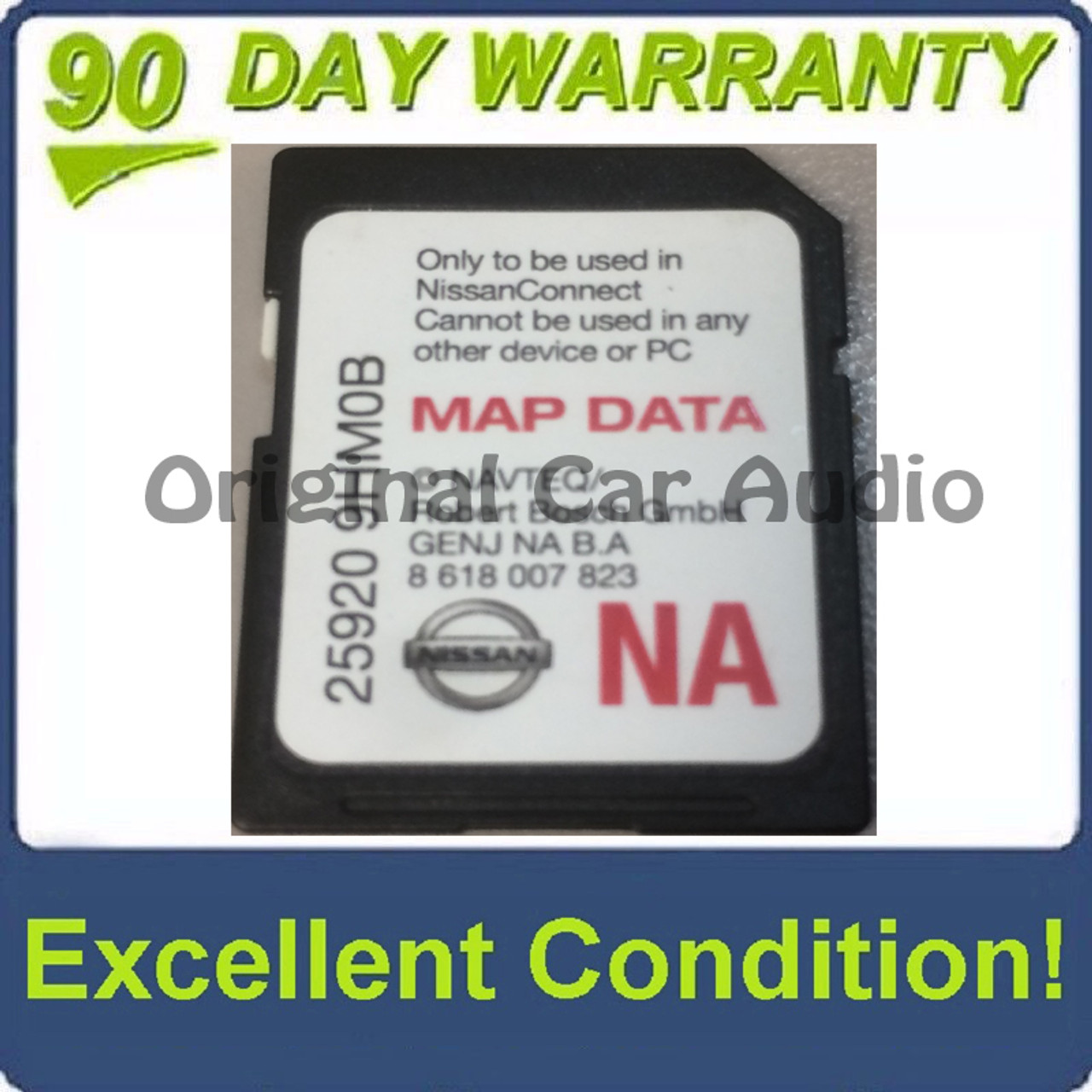 2014 - 2018 Nissan OEM NAVTEQ BOSCH Navigation Map SD Card