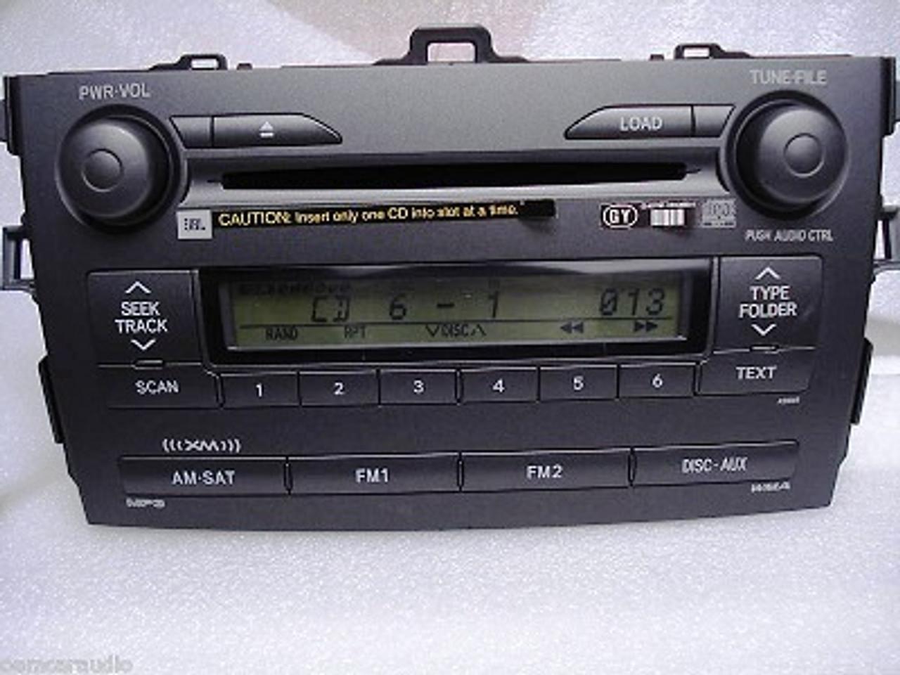 2010 toyota corolla radio