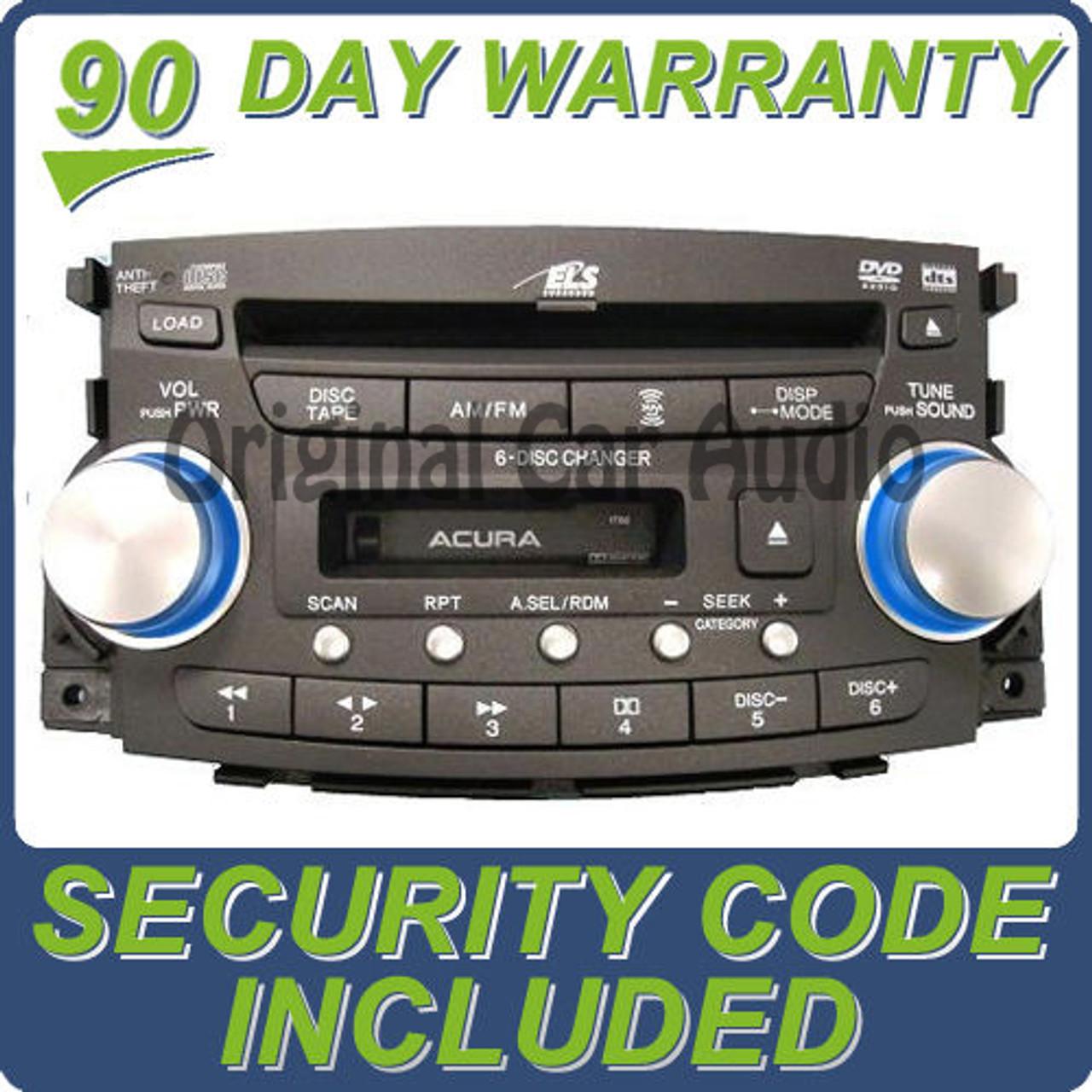 07 08 Acura TL Navigation Stereo MP3 Cassette 6 CD Player OEM