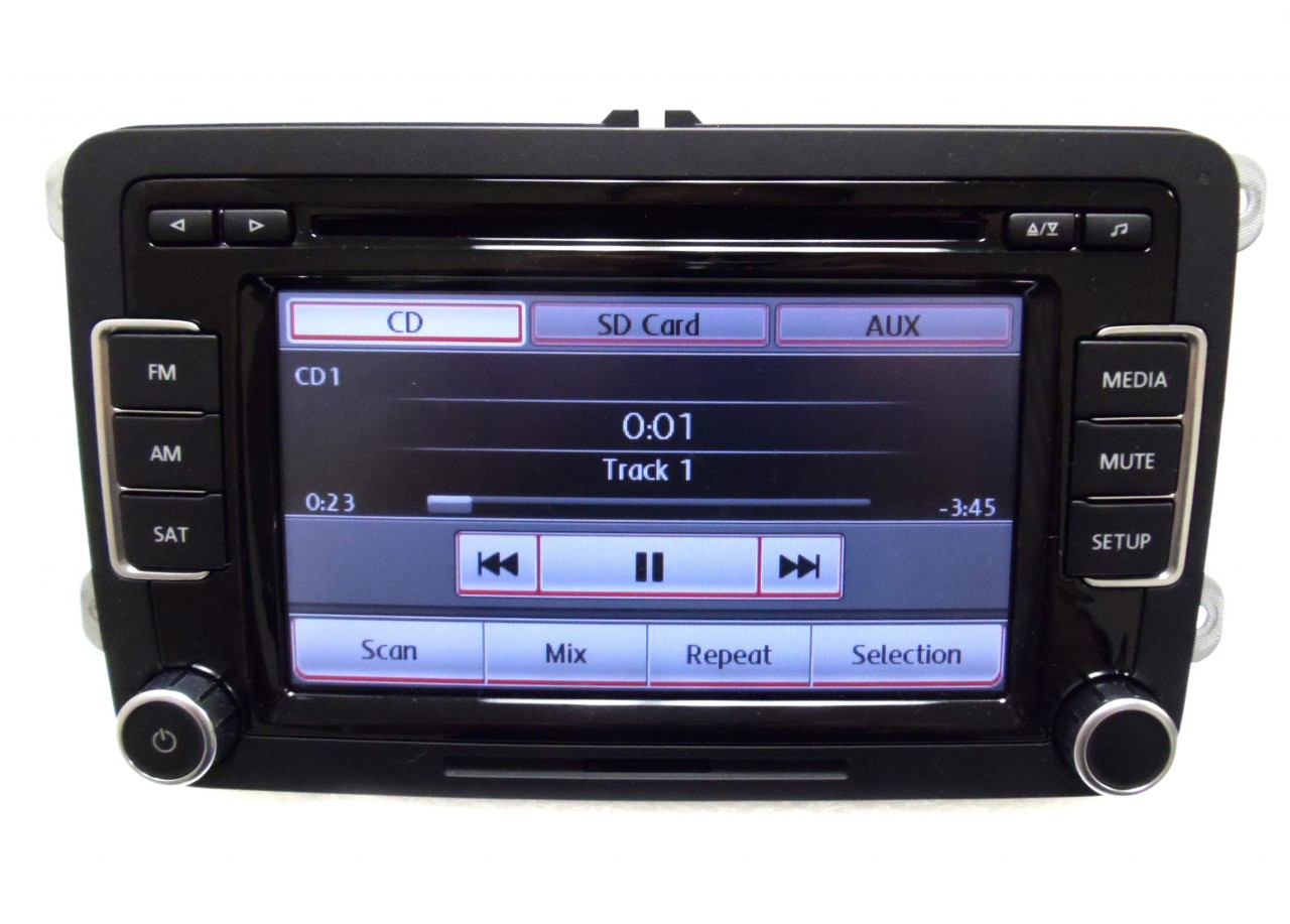 2010 2011 2012 VW Volkswagen Jetta Passat Golf GTI Rabbit EOS OEM Radio  Stereo 6 Disc Changer CD Player Touch Screen SD Mp3 Sirius Satellite  RCD-510