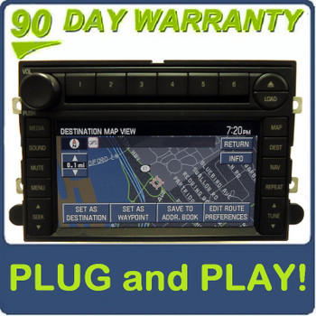 FORD MERCURY Explorer Mountaineer Edge Expedition F-150 GPS Navigation Radio Stereo 6 Disc Changer CD Player 6L2T-18K931-AJ  2006 2007 2008 2009
