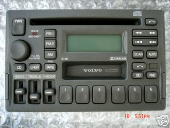 Volvo SC-816 Radio Tape CD Player 850 960 V70 S70 V40 S40 S90 V90 1993 1994 95 1996 1997 98 99 2000
