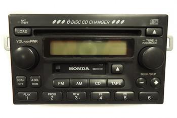 HONDA Accord Civic CR-V Odyssey Radio Stereo 6 Disc Changer CD Cassette Tape Player 1998 1999 2000 2001 2002 2003 2004