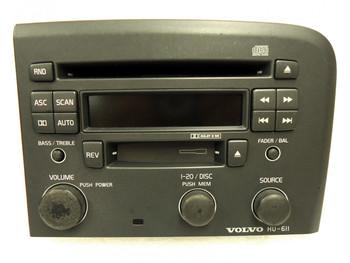 VOLVO S80 S-80 Radio Stereo Tape CD Player HU-611 Light Grey Light Wear 1999 2000 2001 2002 2003