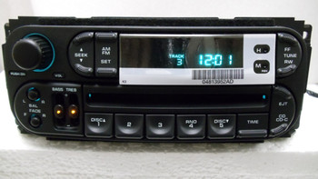 NEW 98 99 2000 01 02 Chrysler Jeep Dodge Radio and 6 Disc CD Changer