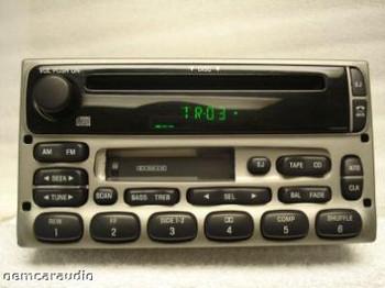 1998 - 2005 Ford / Lincoln / Mercury  Radio CD player Silver