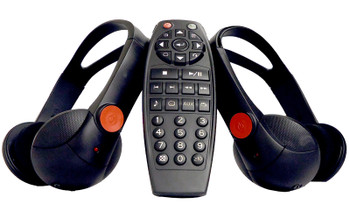 05 06 07 08 09 10 11 GMC Yukon Chevy Tahoe Cadillac Escalade HEADPHONES (2) and Remote Control